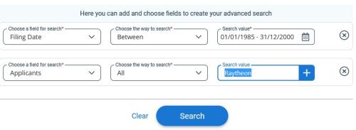 Ilpto filing date range search screen