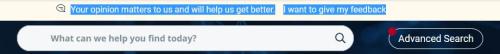 Ilpto search feedback bar